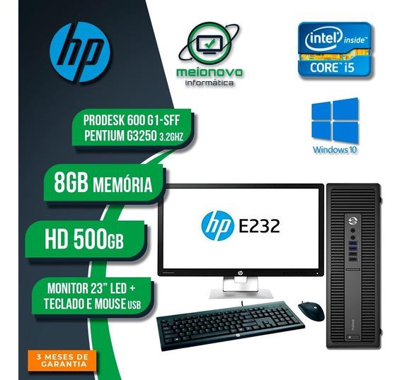 Hp Prodesk 600 G1 - Pentium G3250 3.2g 8g 500g + Monitor 23