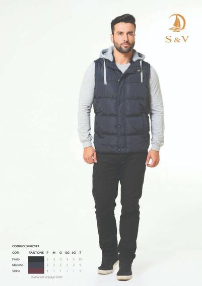 Blusa Casaco Masculino Colete Frio Inverno Acolchoada