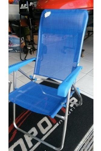 Cadeira De Praia Com 8 Inclinações Rio Ntk
