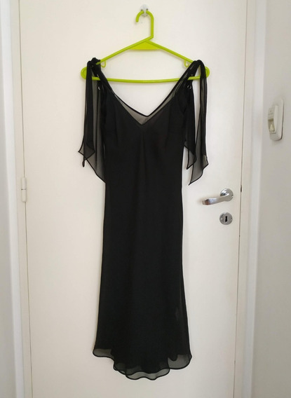 Vestido De Fiesta Negro De Ayres