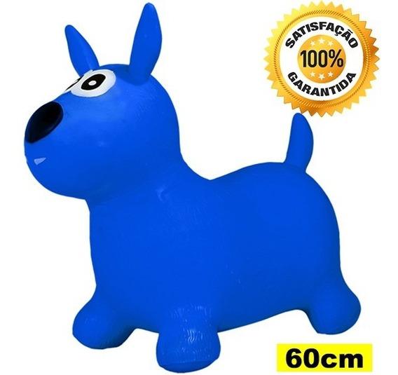 Cavalinho Upa Upa Pula Pula Inflável 60x50cm 1 A 7 Anos Azul