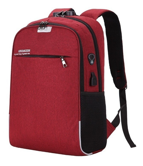 Mochila Antirrobo Notebook Smart Celular Tablet Carga Usb
