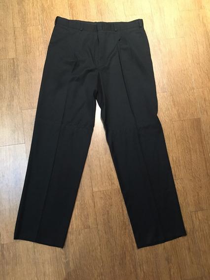 Pantalon De Vestir, 36x32, Hombre, Negro