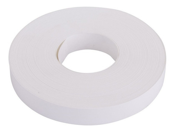 Tapacanto Blanco Pvc 22mm X 300 Mtrs Sin Cola Canto Abc