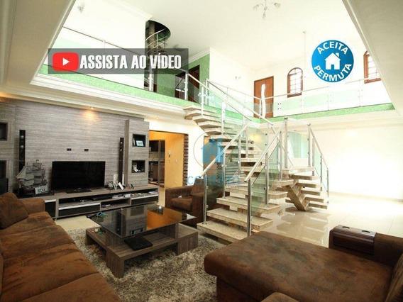So0050 -sobrado Com 4 Dormitórios À Venda, 320 M² Por R$ 960.000 - City Bussocaba - Osasco/sp - So0050
