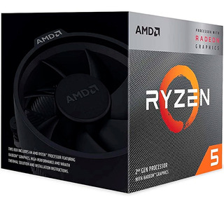 Procesador Amd Ryzen 5 3400g Socket Am4 Turbo 4.2ghz 4 Cores Zen 2 Graficos Rx Vega 11 Gamer