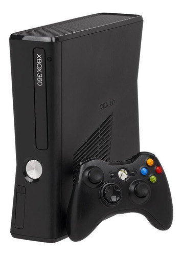 Imagem 1 de 2 de Microsoft Xbox 360 + Kinect Slim 4GB Standard cor  matte black