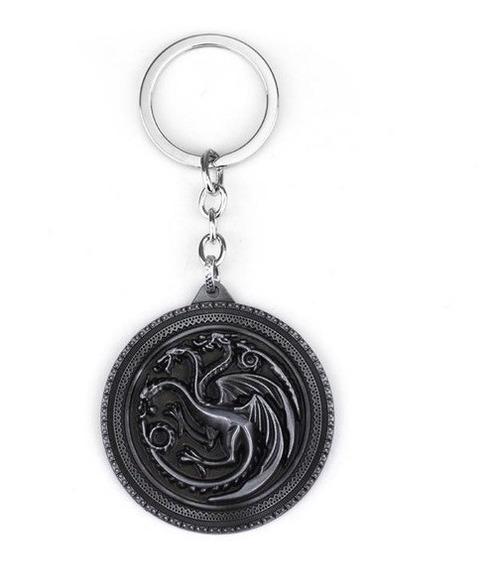 Chaveiro Game Of Thrones - Fire And Blood Targaryen Prata