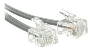 Cablewholesale Rj116p/4c Reverse Silver Satin Plana, Pl