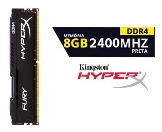Memória Kingston Ddr4 8gb 2400 Mhz !!brinde-pendrive8gb!