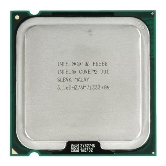 Processador Intel 775 E8400 Core 2 Duo 3.16 Ghz