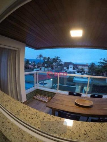 Apartamento Em Ubatuba Com 3 Dormitórios À Venda, 102 M² Por R$ 910.000 - Itaguá - Ubatuba/são Paulo - Ap0264