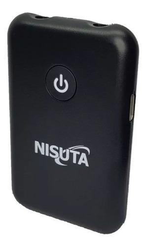 Imagen 1 de 5 de Nisuta Emisor O Receptor Bluetooth Sonido Plug 3.5 Ns-costbl