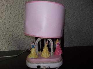 Lampara Niña Bebé Buró Disney Princesa Musical