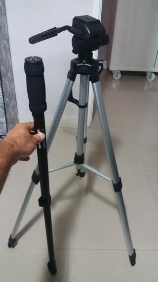 Tripé + Monopé Para Câmera Fotográfica