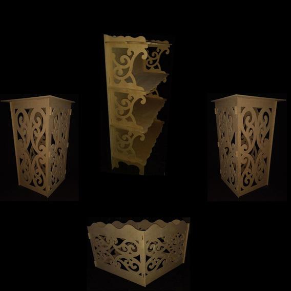 Estante+ Caixa+ Par De Cubos Arabesco Em Mdf Cru !