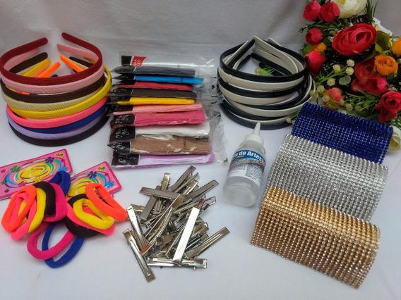 Kit Para Artesanato, Tiaras, Faixas, Strass, Acessórios