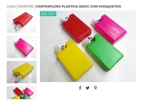 Cantimplora Plastica 350cc Con Mosqueton
