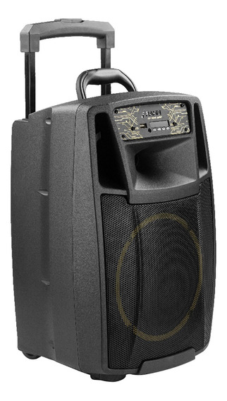 Caixa De Som Bluetooth Amplificada 200w Bivolt Multiuso Frahm Cf-400 Pp