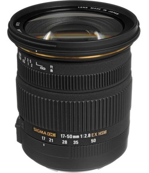 Lente Sigma 17-50mm F/2.8 P/ Dslr Canon Com Sensor Aps-c