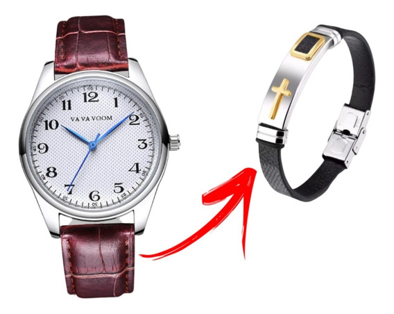 Relógio Masculino Luxo Modelo Va202 + Brinde + Frete Grátis