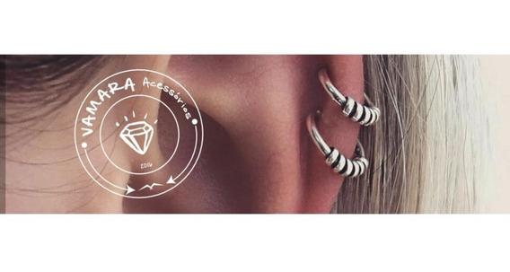 Piercing De Prata De Pressão - Argolinha (argola) Bali Mod 1