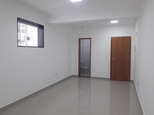 Sala Comercial Para Alugar, 27 M² Por R$ 1.600/mês - Campo Grande - Santos/sp - Sa0160