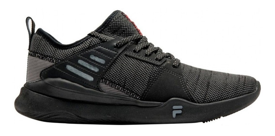 Zapatillas Fila Running Hombre Essential Negro-graf-rojo Ras