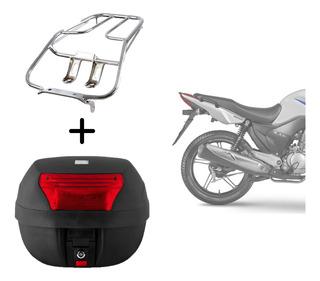 Bagageiro Suporte Moto Honda Cg Fan 125 2008 + Baú 28 Litros