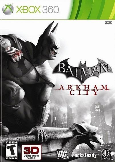 Jogo Batman Arkham City 3d Xbox360 Ntsc Em Dvd Original