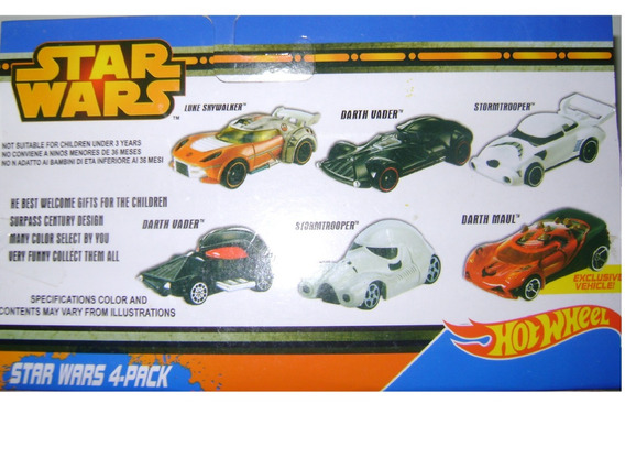 Set De 4 Carros Star Wars Escala 1/64 Oferta