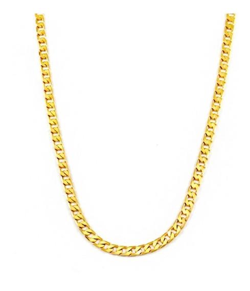 Banhado A Ouro Corrente Grumet Dourado 60 Cm Qmaximo