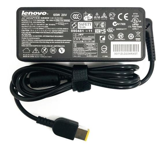 Fonte Carregador Notebook Lenovo Ibm 20v 65w Pino Retangular