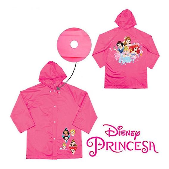 Capa De Chuva Infantil 6 A 8 Anos - Princesas Disney Etitoys