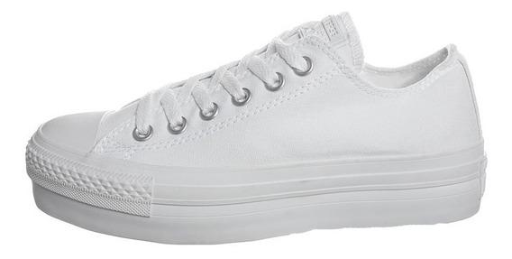 Zapatillas Converse All Star Plataforma Full White Dama!!!!