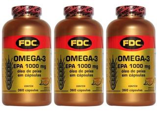 Ômega 3 Importado Fdc (promoção 1080 Caps) O. Peixe Fish Oil