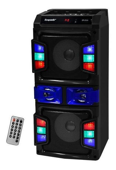 Caixa De Som Portatil Bluetooth Usb Ecopower Ep-2131 Karaoke