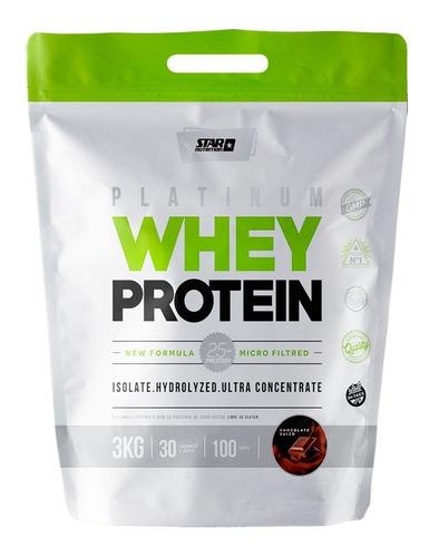 Imagen 1 de 6 de Whey Protein 3 Kg Star Nutrition Proteina De Suero
