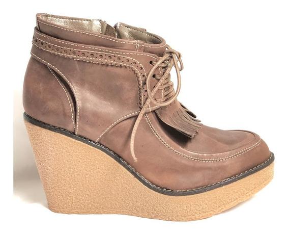 Zapato Mujer Heyas S2622 Con Plataforma Y Flecos