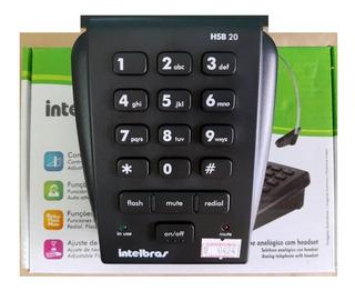 Telefone Analógico Intelbras Hsb20 Vem Só A Base Discadora