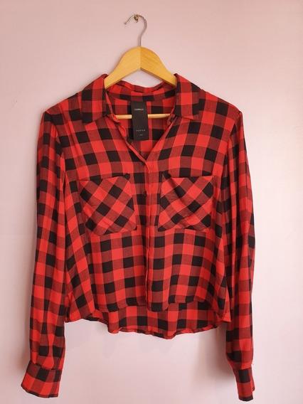 Camisa Complot Roja A Cuadros Talle M