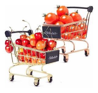 Mini Carrito De Compras, 2pcs Mini Supermercado Supermercado