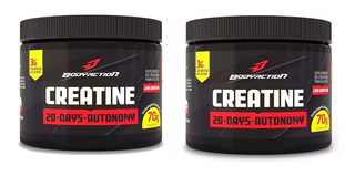 2 Creatinas Powder 20 Days 70gr Body Acition