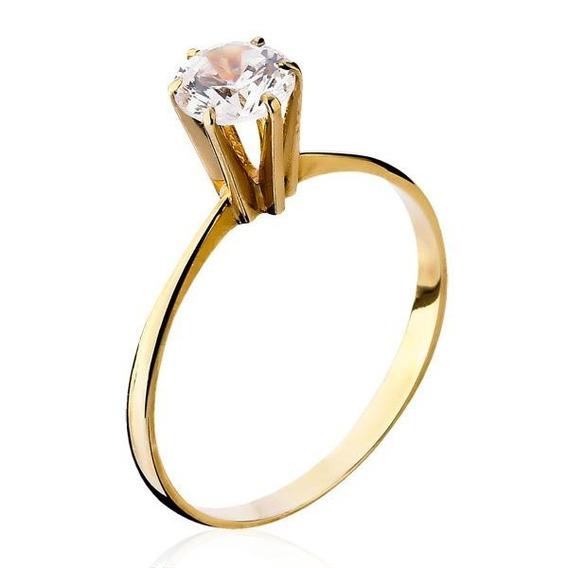 Solitário Em Ouro 18k Com Diamante - Als006
