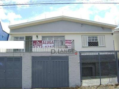 Casa Com 3 Dormitórios Para Alugar, 180 M² Por R$ 2.500/mês - Jardim Eulina - Campinas/sp - Ca12861