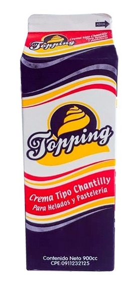 Crema Topping Tipo Chantilly