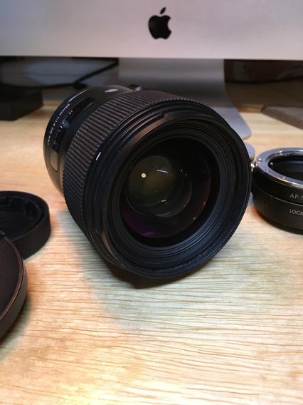 Lente Sigma 35mm F/1.4 Dg Art Para Sony A-mount, Com Adaptador Para Sony-e