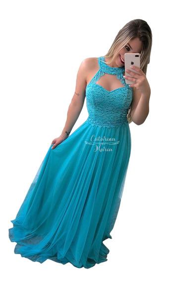 Vestido Longo Madrinhas Mãe Noivos Debutante Estilo Princesa