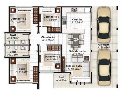 Novolarcasas Com Br Construção De Casa Com 4 Quartos, 71.500