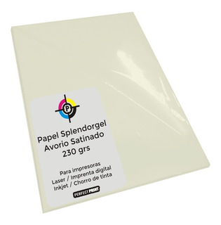 Opalina Ilustracion A4 Color Crema 20 Hs 230 Grs Splendorgel Avorio Impresoras De Tinta Y Laser Calidad Fotografica